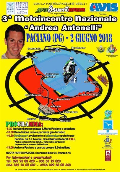 """Torna il 2 giugno il raduno nazionale """"Andrea Antonelli"""" Omaggio al campione castiglionese con un motoincontro intorno al lago Trasimeno"""