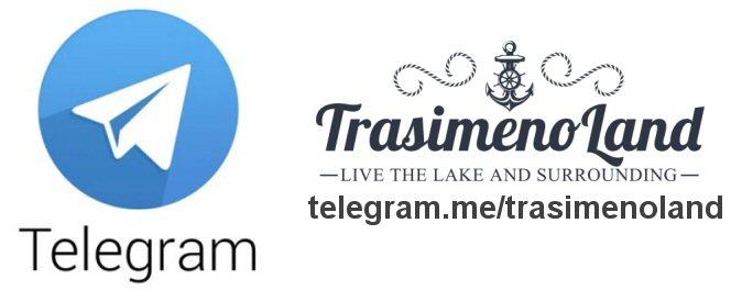 Logo Telegram e TrasimenoLand