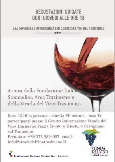 Degustazioni guidate vini del Trasimeno