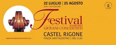 Festival dei giovani concertisti 2018 – Castel Rigone