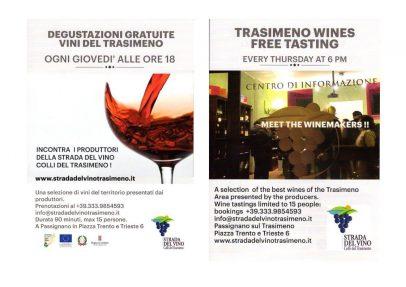 Degustazioni gratuite dei vini del Trasimeno 2018