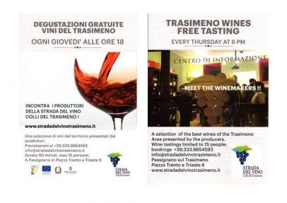 Degustazioni gratuite dei vini del Trasimeno