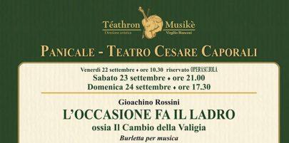 """Panicale: """"L'occasione fa il ladro"""" di Rossini chiude il Pan Opera festival"""