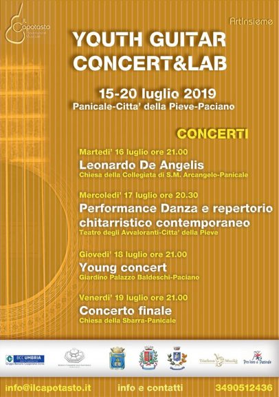 "Youth Guitar Concert & Lab"" Panicale"