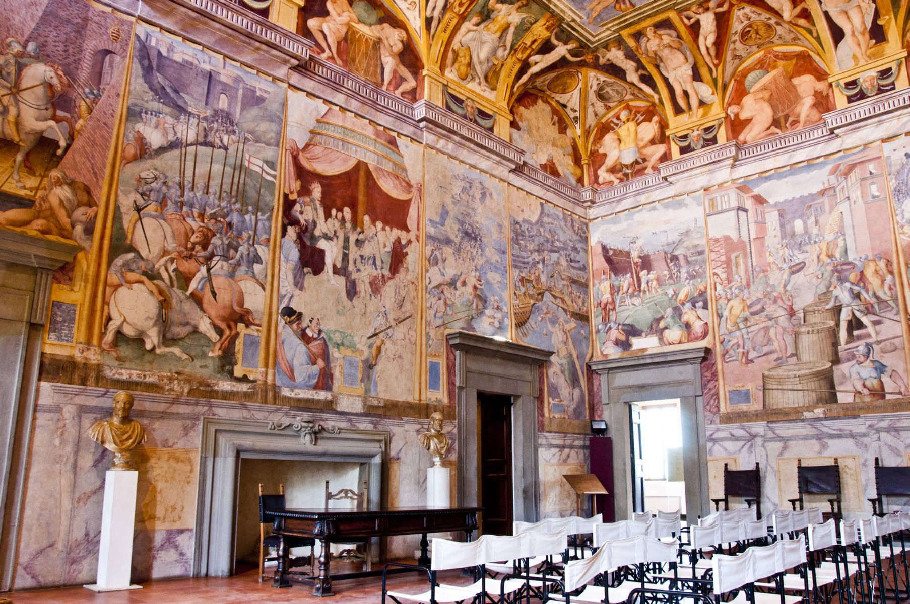 Castiglione del lago cosa vedere: affreschi a palazzo della Corgna